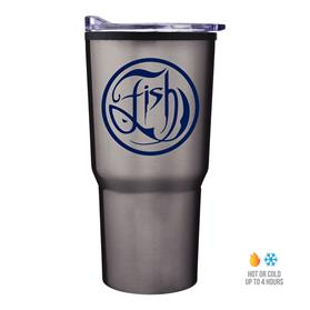 30 oz Economy Tapered Stainless Steel Tumbler With Plastic PP Liner