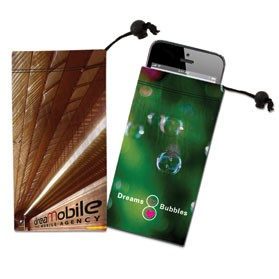 Cell Phone, Ipod Itouch or Camera Microfiber Cloth Pouch
