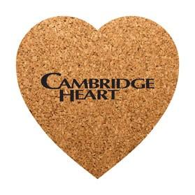 PCC104 Heart Shaped Cork Coasters