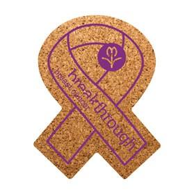 PCC109 Awareness Ribbon Cork Coaster
