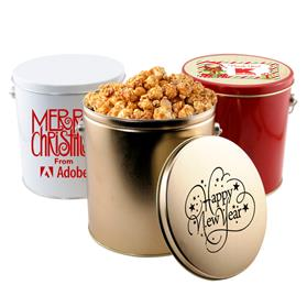 1 Gallon Tin with Popcorn and Pretzels
