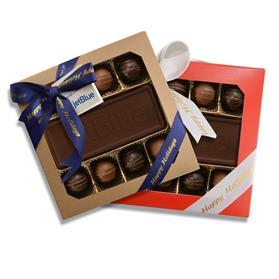 Custom Chocolate with 8 Truffles Holiday Gift Box