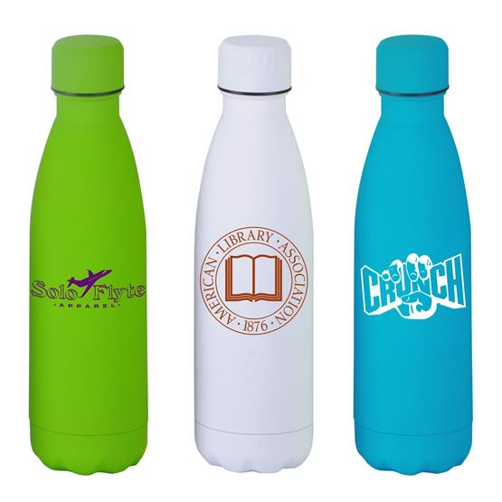 BTL400 - 17 oz Matte Finish Stainless Steel Bottle