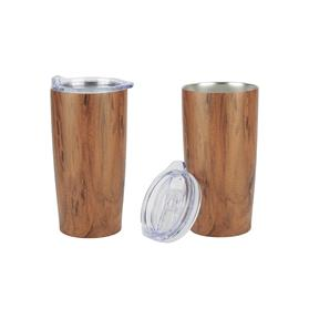 20 oz Wood Tone Stainless Steel Tumbler