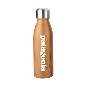 20 oz Wood Tone Stainless Steel Cola Bottle