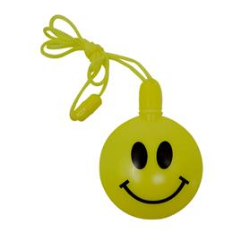 Happy Face Round Shaped Bubbles with Breakaway Neck Cord