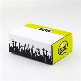 "9"" X 6"" X 3.5"" 4CP Full Bleed E-Flute Tuck Box"