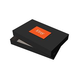 "15"" x 9.5"" x 2"" Black Apparel Debossed Box"