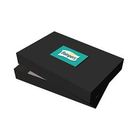 "17"" x 11"" x 2.5"" Black Apparel Debossed Box"