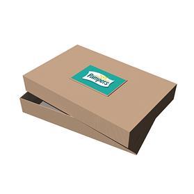 "17"" x 11"" x 2.5"" Kraft Pinstripe Apparel Debossed Box"