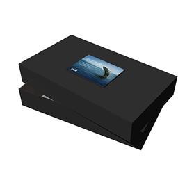 "24"" x 14"" x 4"" Black Apparel Debossed Box"