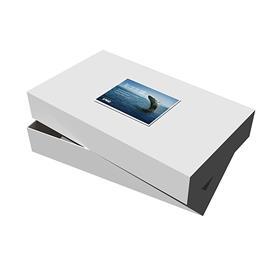"""24"""" x 14"""" x 4"""" White Apparel Debossed Box"""