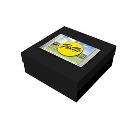 """8"""" x 8"""" x 3"""" Black Deluxe Gift Box"""