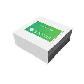 "8"" x 8"" x 3"" White Deluxe Gift Box"