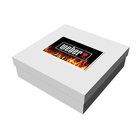 "10"" x 10"" x 3"" White Deluxe Gift Box"