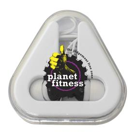 Ear Buds with Triangle Case