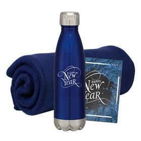 PROMO FLEECE BLANKET BOTTLE COMBO SET