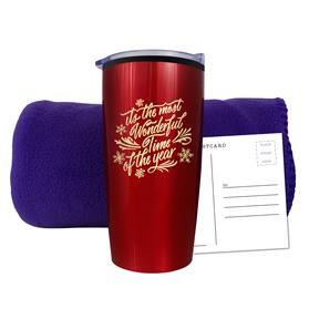 FLEECE BLANKET TUMBLER COMBO SET