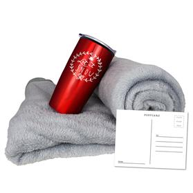 CORAL FLEECE BLANKET TUMBLER COMBO SET