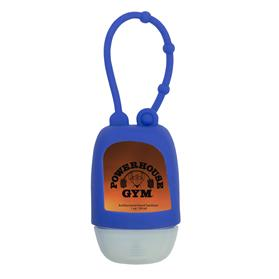 1 oz Travel Antibacterial Hand Sanitizer with Adjustable Silicone Strap