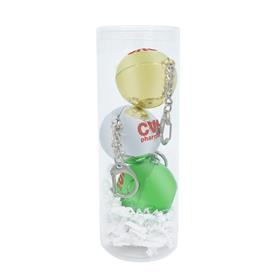 Metallic Lip Balm with Keychain Set in PVC Tube