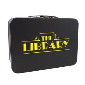 Matte Black Retro Lunch Box