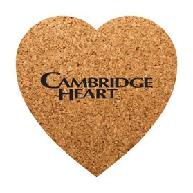 PCC104 Heart Shaped Cork Coasters
