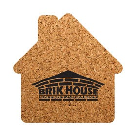 PCC105 House Shaped Cork Coasters