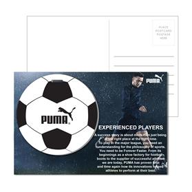 Post Card With Full-Color Soccer Luggage Tag