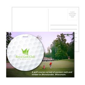 Post Card With Full-Color Golf Luggage Tag