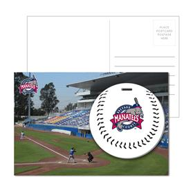 Post Card With Full-Color Baseball Luggage Tag