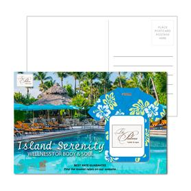 Post Card With Full-Color Hawaiian Shirt Luggage Tag