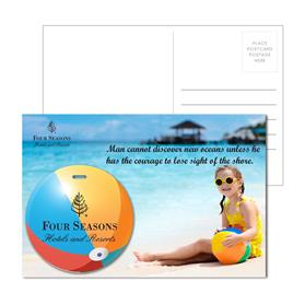 Post Card With Full-Color Beach Ball Luggage Tag