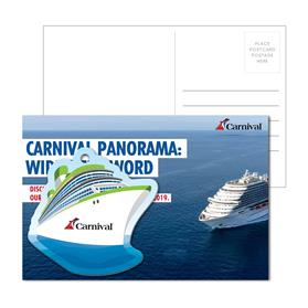 Post Card With Full-Color Cruise Ship Luggage Tag