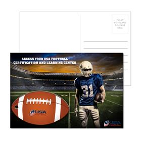 Post Card With Full-Color Football Luggage Tag