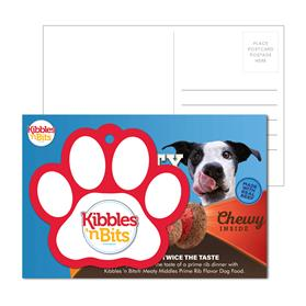 Post Card With Full-Color Paw Print Luggage Tag