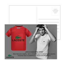 Post Card With Full-Color T Shirt Luggage Tag