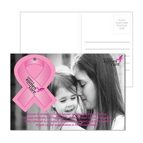 Post Card With Full-Color Awareness Ribbon Luggage Tag