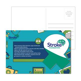 Post Card with Full Color Awareness Ribbon Coaster