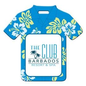 Stock Hawaiian Shirt Luggage Tag