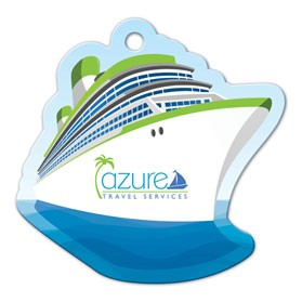 Cruise Ship Shaped Luggage Tag