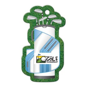 Golf Bag Shaped Luggage Tag