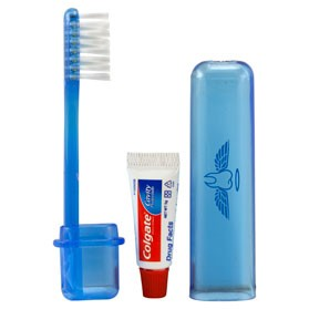 Travel Toothbrush and Colgate Toothpaste