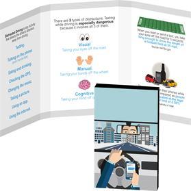 Awareness Tek Booklet with Traditional Rectangular Shaped Dental Floss