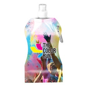 Full Color Wave Collapsible Water Bottle